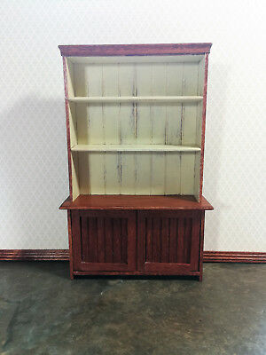 Dollhouse Miniature Large Kitchen Country Cupboard Cabinet 1:12 Scale Handmade