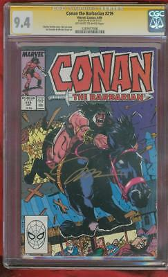 Conan The Barbarian 219 CGC SS 9.4 Jim Lee Gold Signed cover 1989