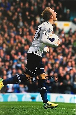 Christian Eriksen signed 12x8 photo Image G UACC Registered Dealer COA AFTAL