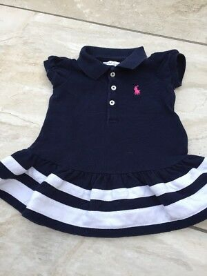 GENUINE RALPH LAUREN  Blue BABY GIRLS TENNIS DRESS SIZE 6 MONTHS VGC