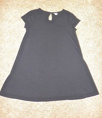 NEW Mossimo Supply Black A-Line Rib Knit Tunic Top/Cover Up L/XL
