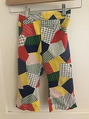 1970's Patchwork Vtg Cotton Boys Pants, Size 3t Wee Rob Roy 70s