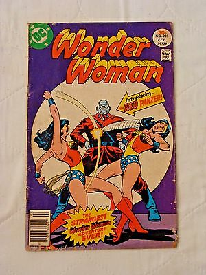 Wonder Woman #228 Mark Jewelers Variant (Feb 1977, DC) VG/Fine 1st Red Panzer