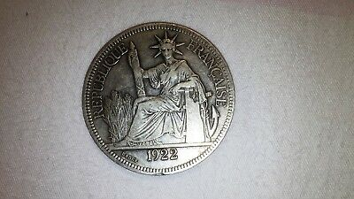 1922H French Indo China Piastre