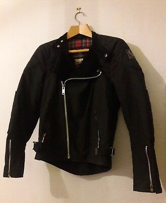 A genuine black belstaff wax motorcycle jacket. UK38. VGC. Pre-owned.