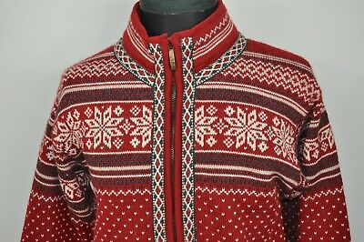 Dale Of Norway Mens Full Zip Wool Sweater Size S 9000 Picclick