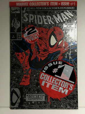 SPIDER-MAN #1 SILVER  BAGGED EDITION NM-Mint 9.8   Todd MCFARLANE Cover 1990