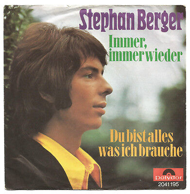 "Stephan Berger   immer, immerwieder 7"" SINGLE mit COVER"