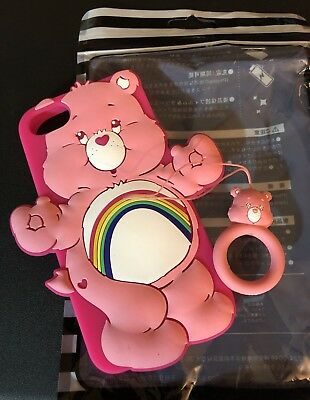 New Care Bears Cheer Bear iPhone 6 8 Case W/ Finger Ring Attachment
