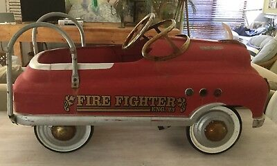 Vintage Pedal Care Rare Original Fire truck Eng 23 industrial Display