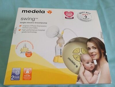 Medela Swing Single Electric Breast Pump With 3 Different Size Of Breast Shields