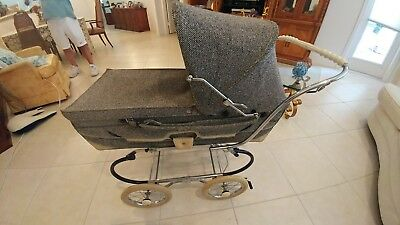 Rare Vintage PEG PEREGO PRAM Carriage Stroller Made In Italy *Sunroof*