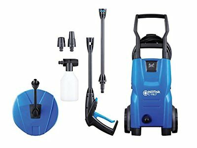 Nilfisk C110 Bar Pressure Washer W/ Patio Cleaner Lightweight Movable Wheels New