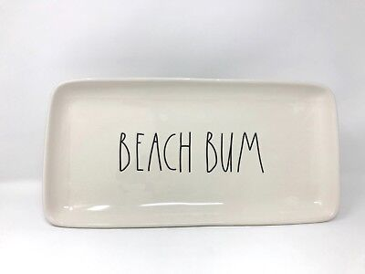 1 new Rae Dunn by Magenta BEACH BUM serving platter pottery summer decor gift
