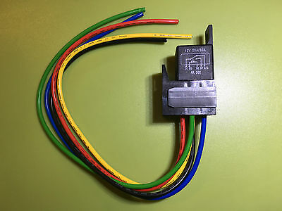 20 / 30 Amp Changeover 5 Pin Relay 12V Heavy Duty 14 Awg Harness