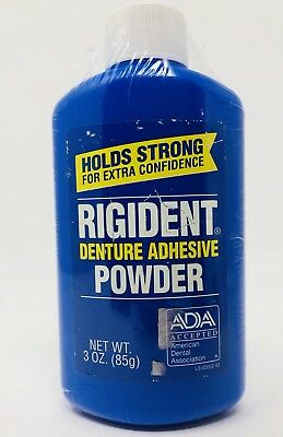 (1) Rigident Denture Adhesive Powder 3 oz Sealed