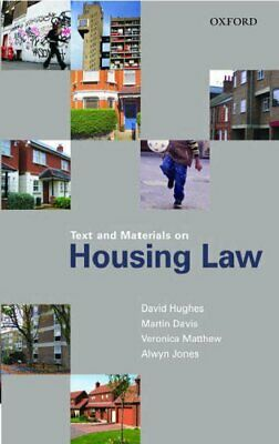 Text and Materials on Housing Law by Hughes, David Paperback Book The Cheap Fast