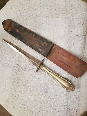Vintage Fixed Blade Knife With Sheath Unbranded previously Owned and used