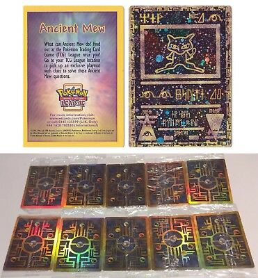 SEALED Ancient Mews Lot Of 10x Double Holo Promo 2000 RARE Pokémon Card