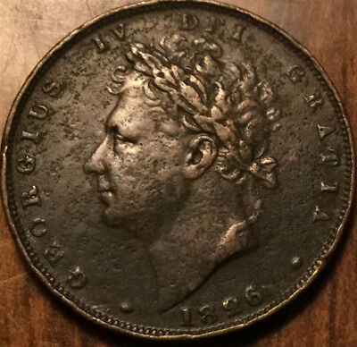 1826 Uk Gb Great Britain Geo Iv Farthing