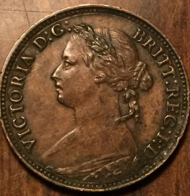 1874H GREAT BRITAIN VICTORIA FARTHING - Truly superb!