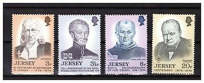 s23020) JERSEY 1974 MNH** Nuovi** Famous persons 4v