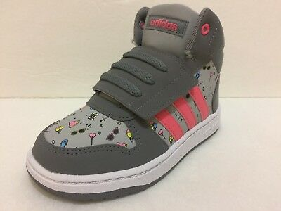79f640bd111 NEW GIRLS ADIDAS Hoops MID 2.01 Basketball Shoes Toddler Size 9K ...