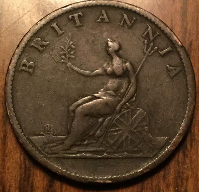 1807 Uk Gb Great Britain Geo Iii Halfpenny