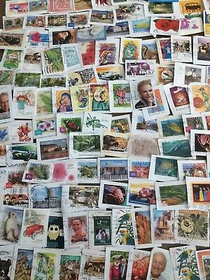 250 USED Australia Stamps On Paper - All Different Bulk Kiloware