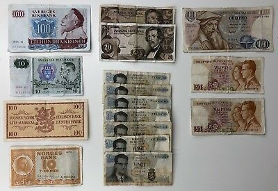 16 x Mixed Banknote Collection - Europe - Mixed Grades. (2016)