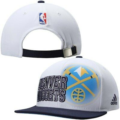 1e26101d Denver Nuggets adidas Authentic On-Court Adjustable strapback Hat - White