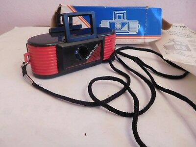 Found  *vintage Boxed  Micro 110  Camera With Strap And Intruction +Film