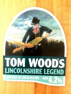 Lincolnshire Legend Real Ale Beer Pump Clip: Tom Woods Brewery