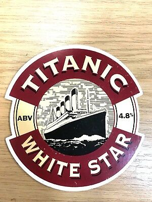 White Star Real Ale Beer Pump Clip Front: Titanic Brewery