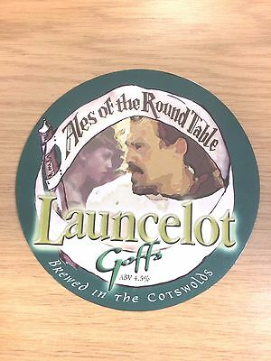 Sir Launcelot Ale Beer Pump Clip Goffs Brewery Knight of King Arthur Round Table