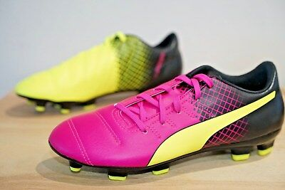 1d71de76ea27 Puma Evopower 4 FG Firm Ground Kids Junior Football Boots Size UK 4 (VDQ)