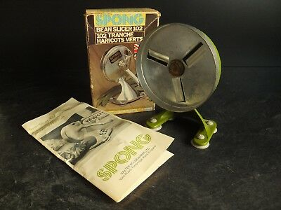 Vintage Spong 102 Bean Slicer With Box And Instructions
