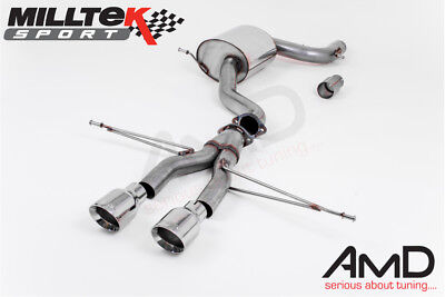 Milltek VW Golf Mk6 GTi Cat Back Exhaust Golf R Style Polished Tips SSXVW244