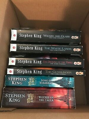 The Dark Tower Series Stephen King 6 books paperbacks Used in good condition