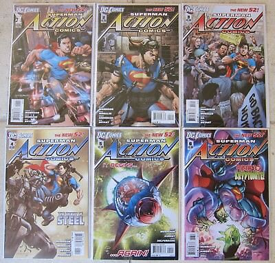 New 52 Action Comics #1-12 used in very good condition