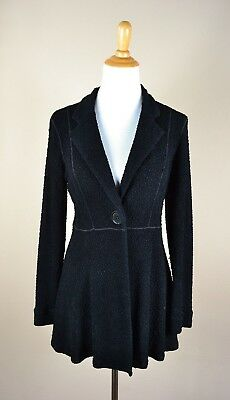 EVA VARRO Pebble Textured Knit Light Jacket Size Medium