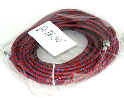"Paasche 50' 1/8"" Braided Air Hose with Couplings A-1/8-50 50 Foot"