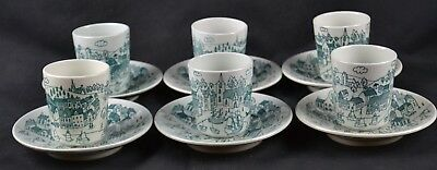 Nymolle Art Faience Hoyrup Denmark Limited Edition 4006 Set 6 Demitasse