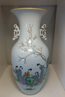 A 19th century Qing Chinese export vase with  script 17 inch