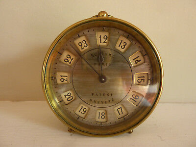 Early 19th century changing 12 / 24 hour dial French desk clock