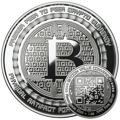 Bitcoin Value Conversion 1 Oz .999 Pure Silver Proof Round Coin Anonymous Mint