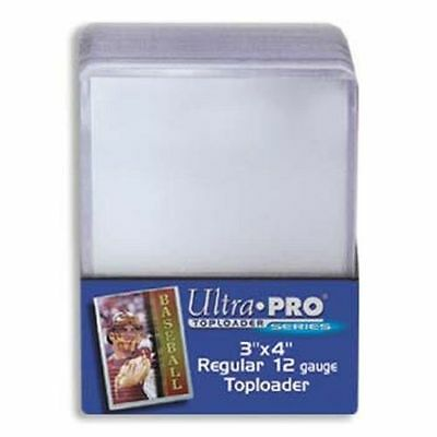 """1000 Ultra Pro 3""""x4"""" Clear Rigid Toploaders 40 Sealed 25Ct Packs Toploaders Case"""
