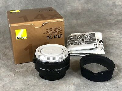Nikon Tc-14E Ii * Excellent Condition * Neoprene Cover * Box