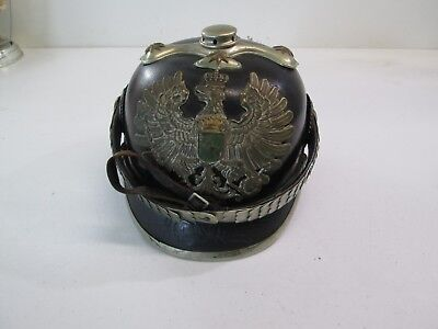 Wwi German Prussian Officers Spiked Leather Helmet