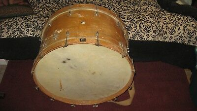 """Vintage 1920s? Walberg and Auge 14""""x24.5""""  Bass Drum SN 1495 Solid Maple NICE!"""